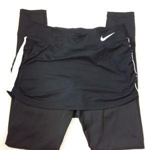 Nike Dri-Fit Skirted Athletic Tennis Leggings